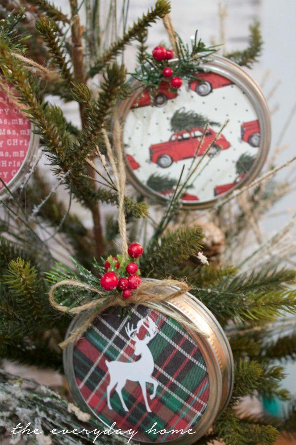 how-to-make-mason-jar-lid-christmas-ornaments | The Everyday Home | www.everydayhomeblog.com