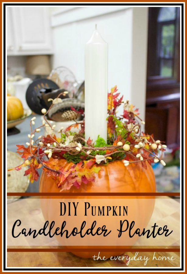 how-to-make-a-diy-pumpkin-candleholder-planter |  The Everyday Home |  www.everydayhomeblog.com