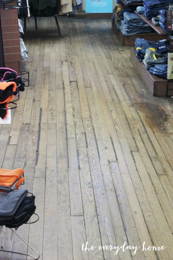 old-nc-hardware-store-wood-floors | The Everyday Home | www.everydayhomeblog.com
