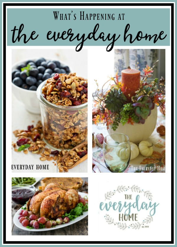 Granola Fall Centerpiece ideas from the Everyday home Shared at Share It One More Time Inspiration Party|One More Time Events-www.onemoretimeevents.com