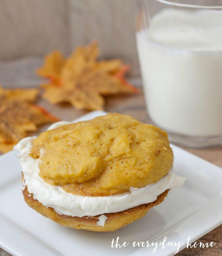 Pumpkin Whoopie Pies | The Everyday Home | www.everydayhomeblog.com