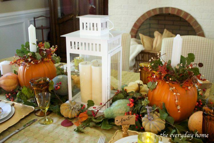 tall-lantern-on-a-fall-tablescape | The Everyday Home | www.everydayhomeblog.com