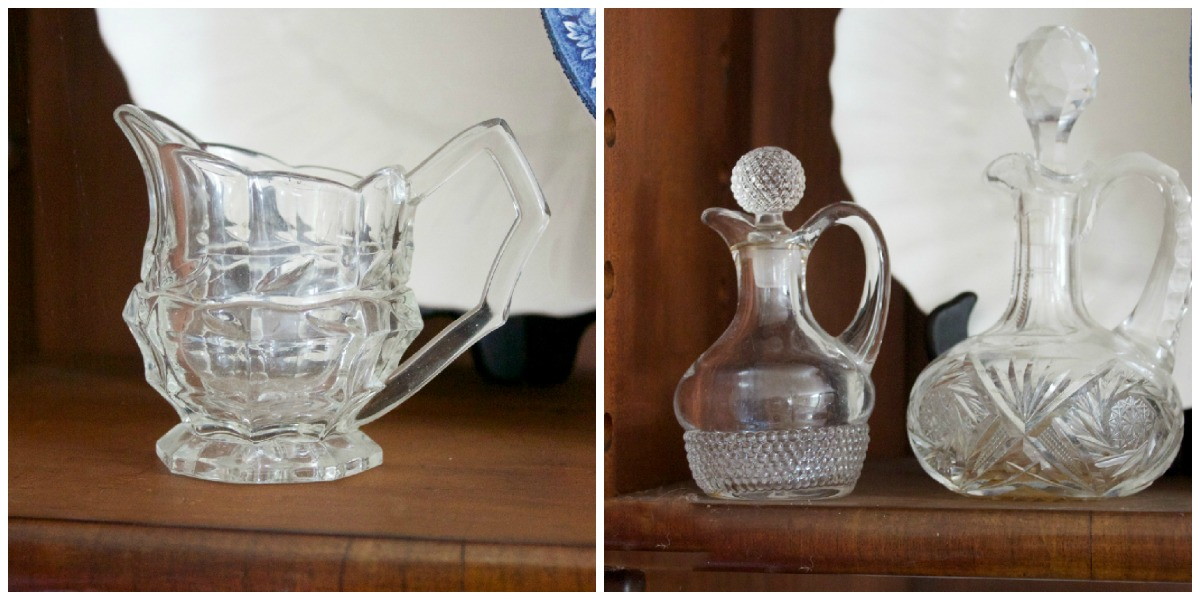 vintage-glassware-in-an-english-hutch | The Everyday Home | www.everydayhomeblog.com