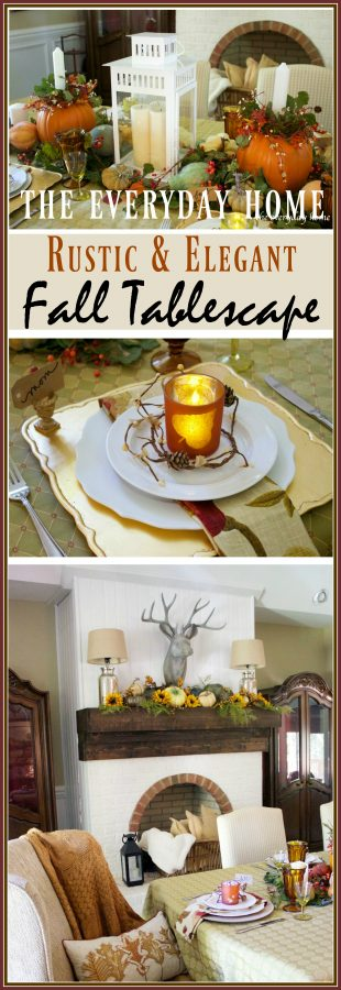 a-rustic-and-elegant-fall-tablescape | The Everyday Home | www.everydayhomeblog.com