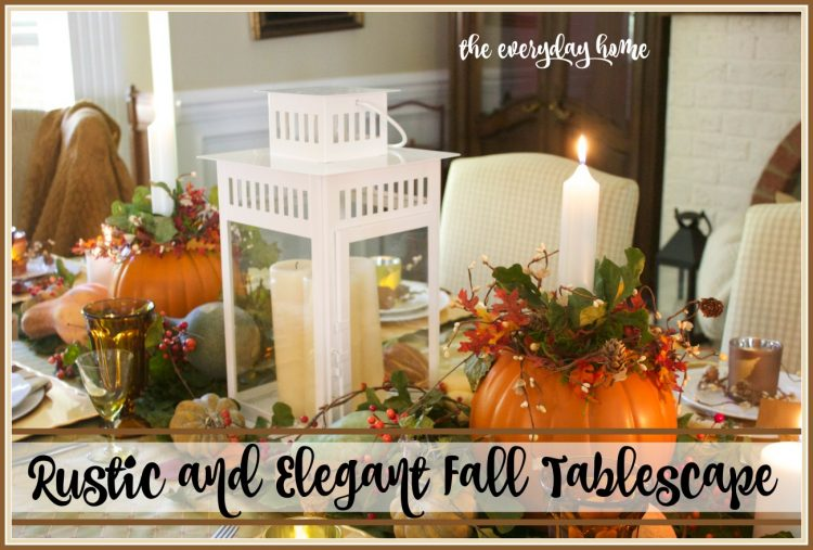 elegant-and-rustic-fall-tablescape | The Everyday Home | www.everydayhomeblog.com