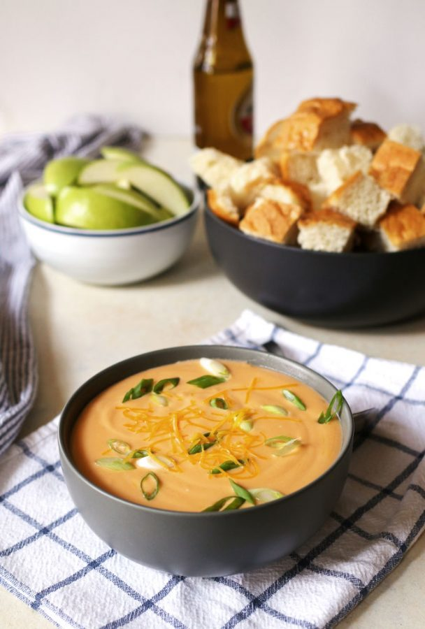 Hot Cheese Beer Dip- by Honey and Birch shared at- One More Time Events-www.onemoretimeevents.com