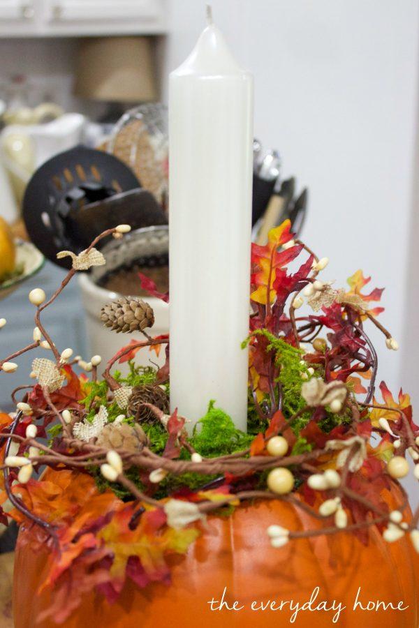 how-to-make-a-pumpkin-candleholder-planter | The Everyday Home | www.everydayhomeblog.com