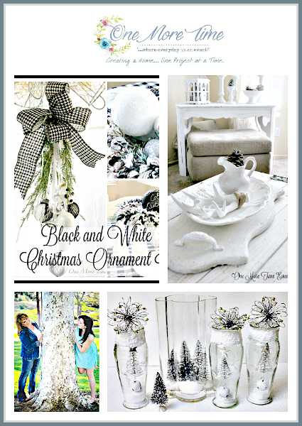 Winter DIY Decorting in Glass with faux snow, Christmas Swag|Winter Decor|One More Time Events-www.onemoretimeevents.com