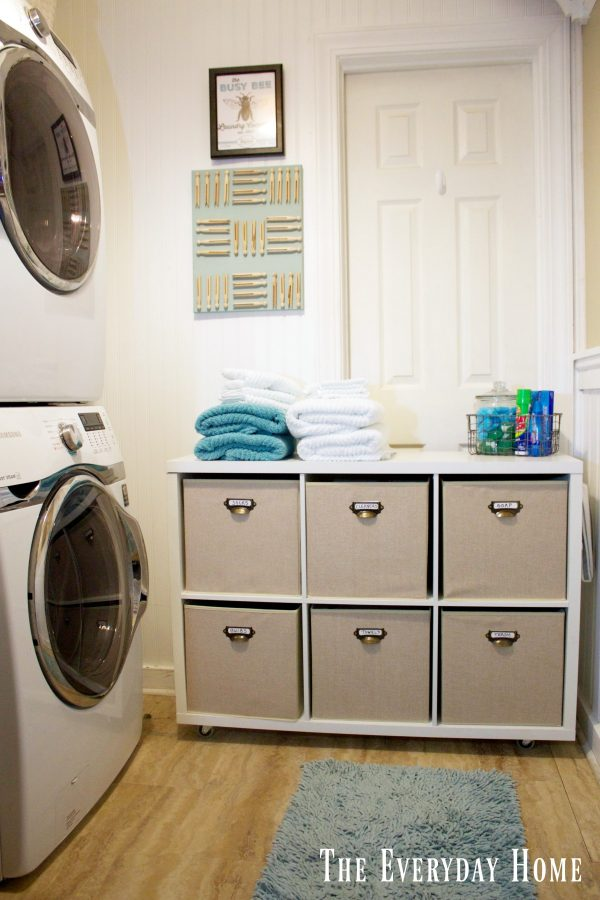 create-a-diy-laundry-cubby | The Everyday Home | www.everydayhomeblog.com