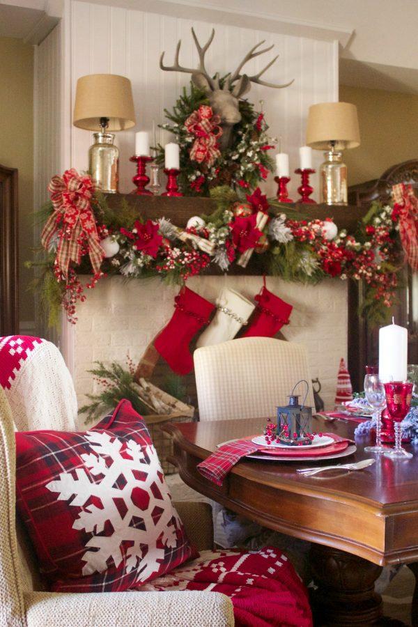 creating-a-festive-christmas-mantel |The Everyday Home | www.everydayhomeblog.com