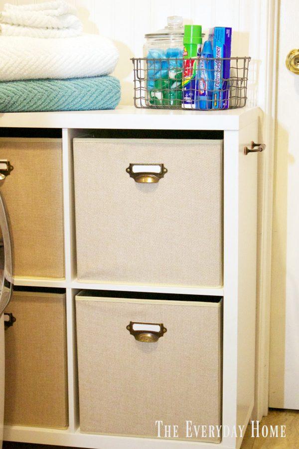 diy-laundry-cubby-storage | The Everyday Home | www.everydayhomeblog.com