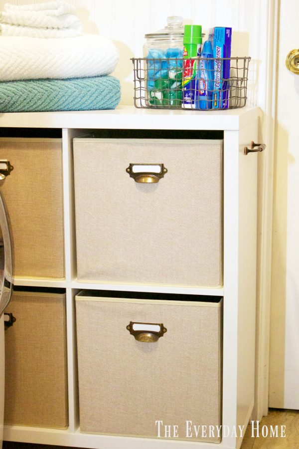 diy-laundry-cubby-storage | The Everyday Home | www.everydayhomeblog.com