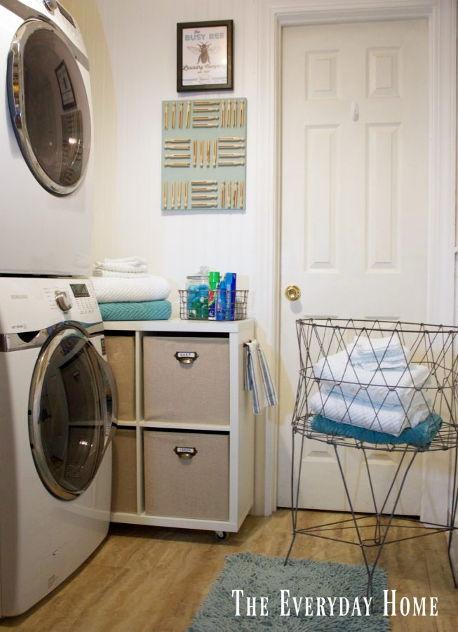 diy-laundry-room-cubby | The Everyday Home | www.everydayhomeblog.com