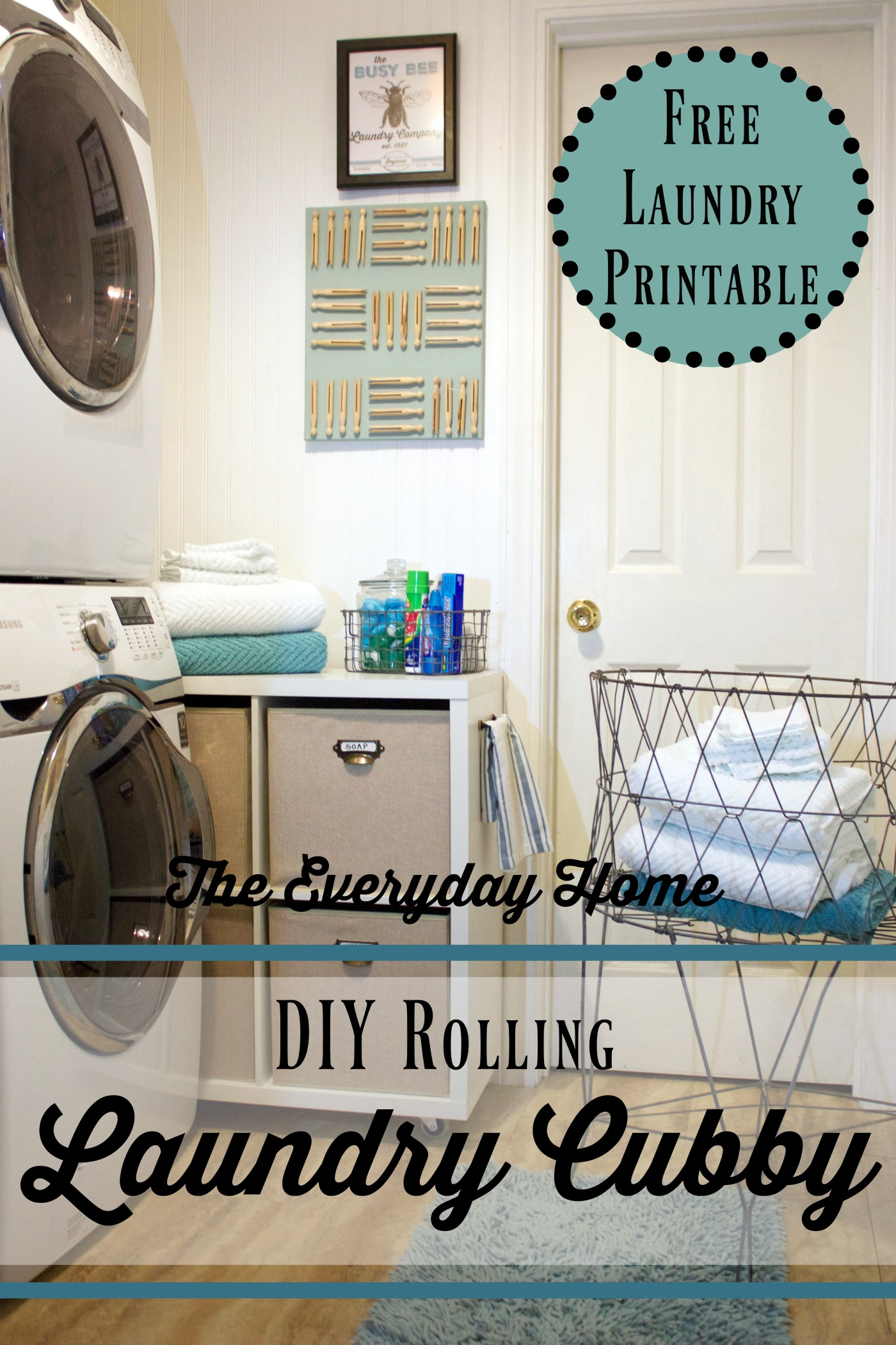 diy-laundry-room-cubby-on-wheels | The Everyday Home | www.everydayhomeblog.com