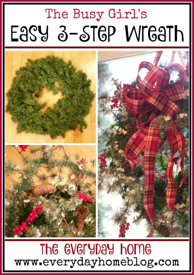 An Easy 3-Step Christmas Wreath | The Everyday Home | www.everydayhomeblog.com