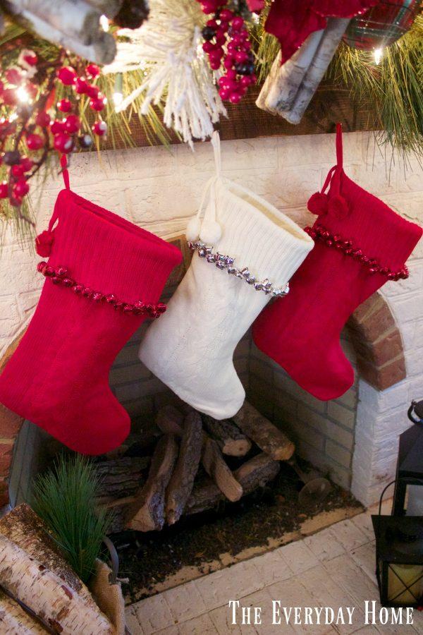 festive-christmas-mantel-stockings | The Everyday Home | www.everydayhomeblog.com