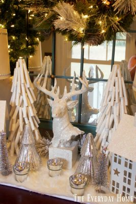 A Frosty Winter Christmas Foyer