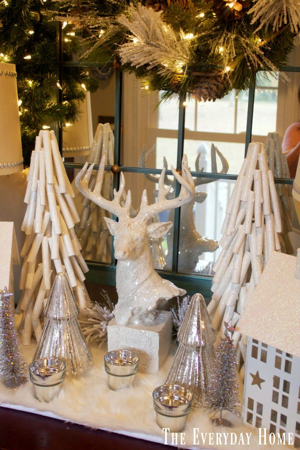 frosty-winter-village-in-the-foyer-deer