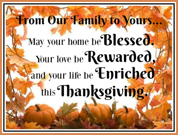 Happy Thanksgiving 2016 The Everyday Home