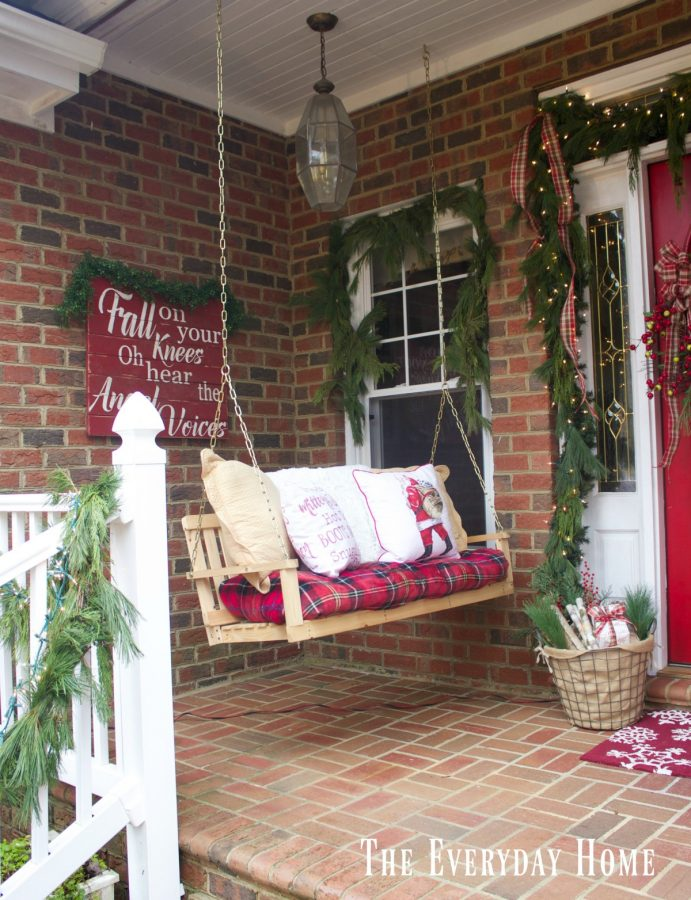 christmas front porch swing - Christmas Front Porch