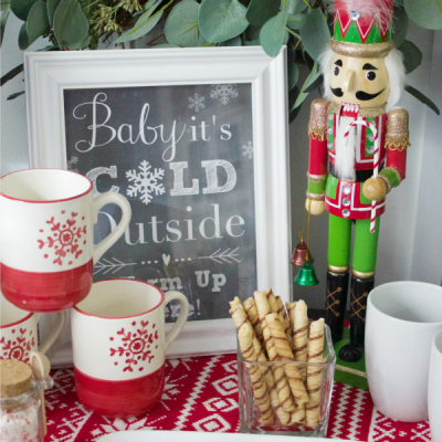 Cocoa and Coffee Bar for Christmas (free printable}