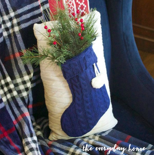 diy-sweater-stocking-christmas-pillow | The Everyday Home | www.everydayhomeblog.com