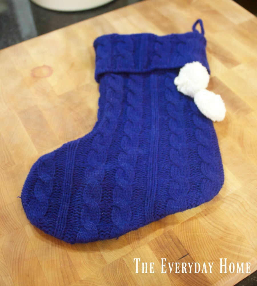 mini-navy-christmas-stocking | The Everyday Home | www.everydayhomeblog.com