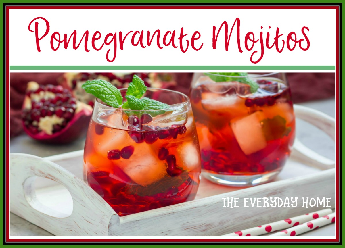 Mojito with Pomegranates Cocktail Recipe | The Everyday Home | www.everydayhomeblog.com