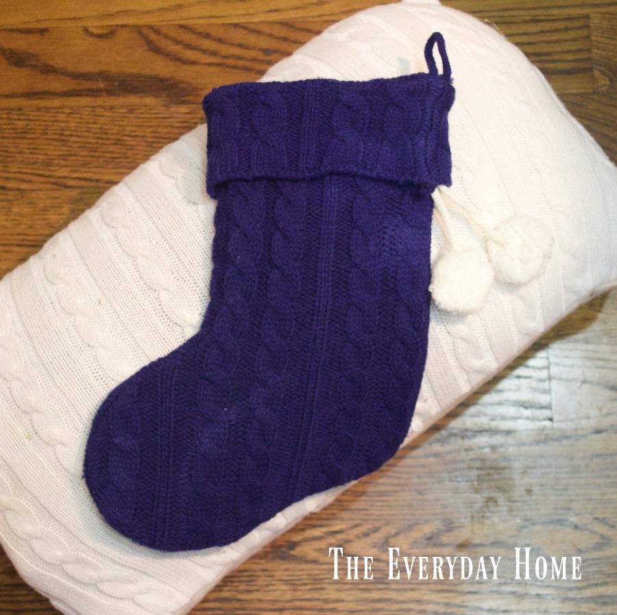 swaeter-pillow-and-stocking | The Everyday Home | www.everydayhomeblog.com