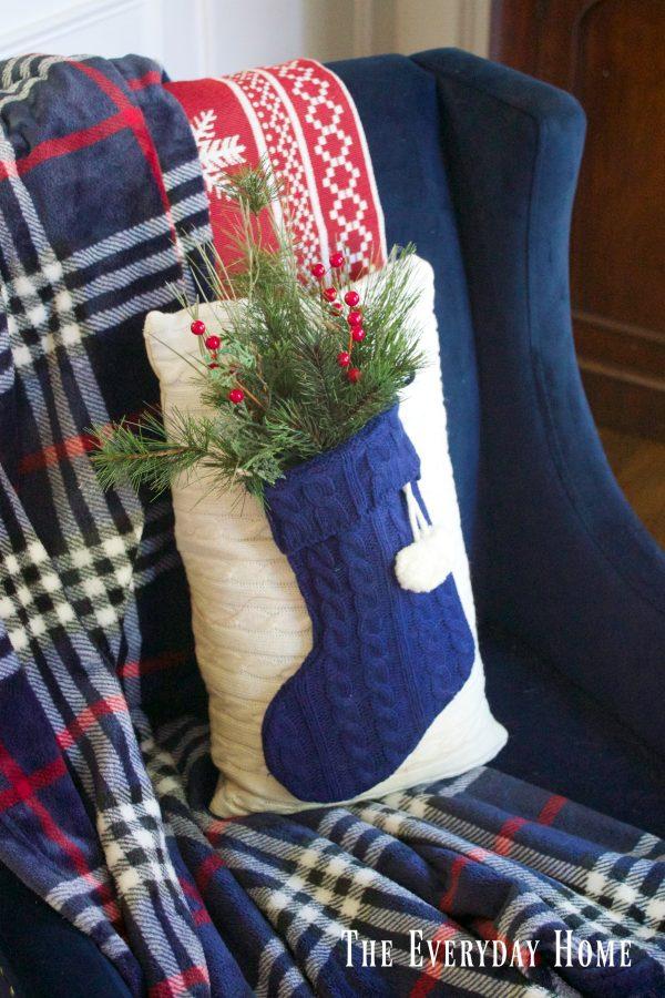 sweater-stocking-pillow | The Everyday Home | www.everydayhomeblog.com