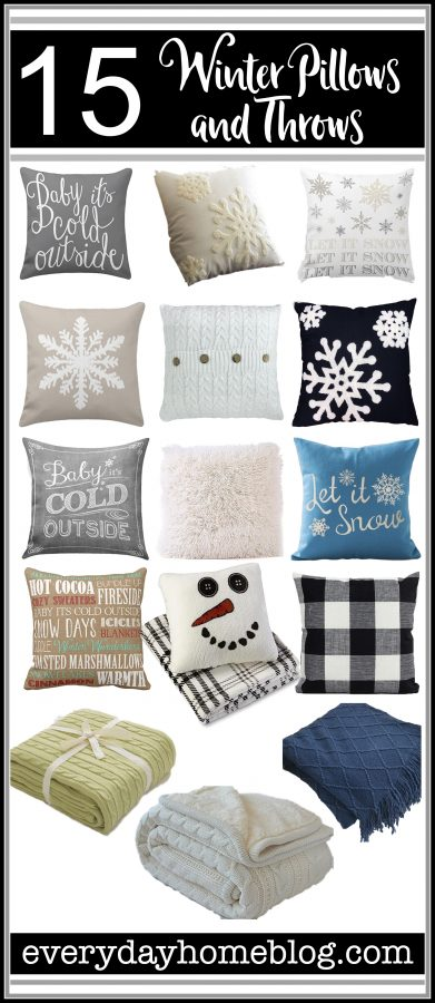 15 Winter Pillows and Throws Available Online | The Everyday Home | www.evevrydayhomeblog.com