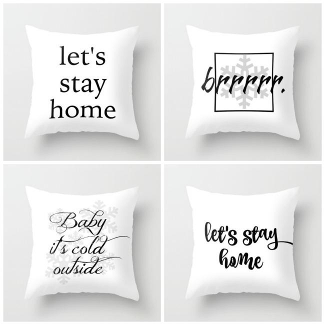 Four Free Winter Printables and Pillows   The Everyday Home   www.everydayhomeblog.com