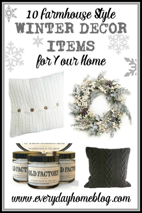 10 Farmhouse Winter Decor Items for Your Home | The Everyday Home | www.everydayhomeblog.com