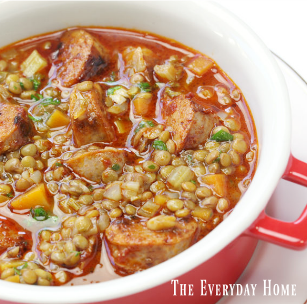 Lentil and Chorizo Soup Recipe | The Everyday Home | www.everydayhomeblog.com