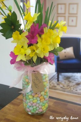 Mason Jar Candy Vase