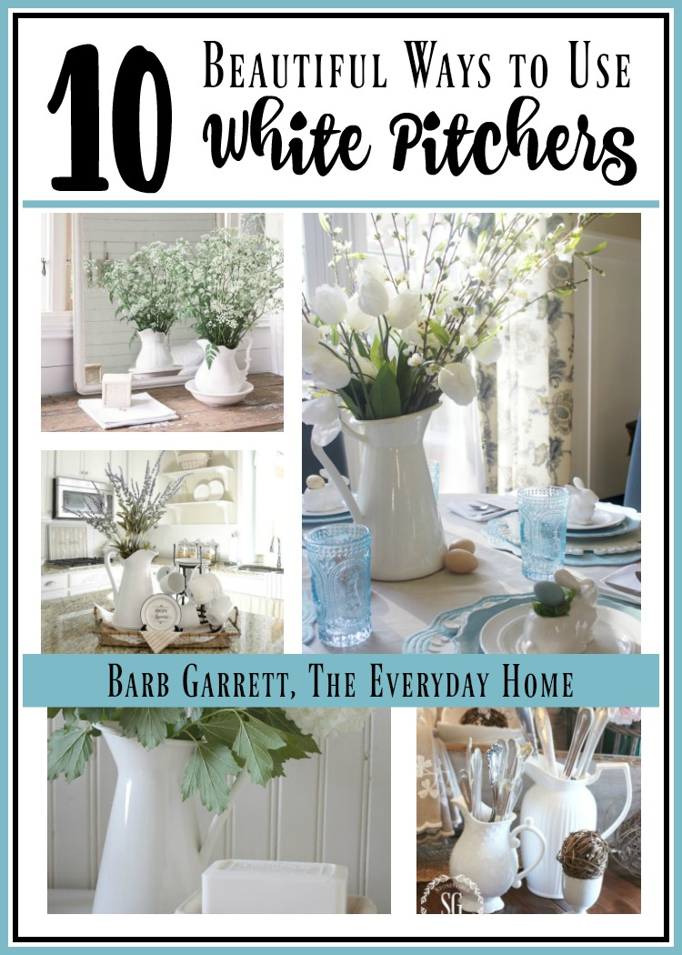 10 Ways to Use White Farmhouse Pitchers | The Everyday Home | www.everydayhomeblog.com