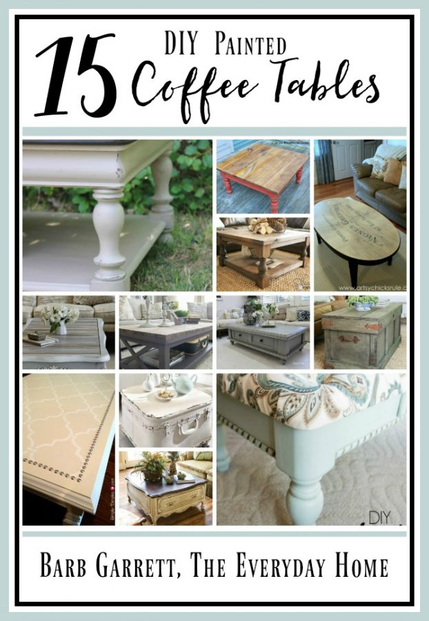15 Painted Coffee Tables