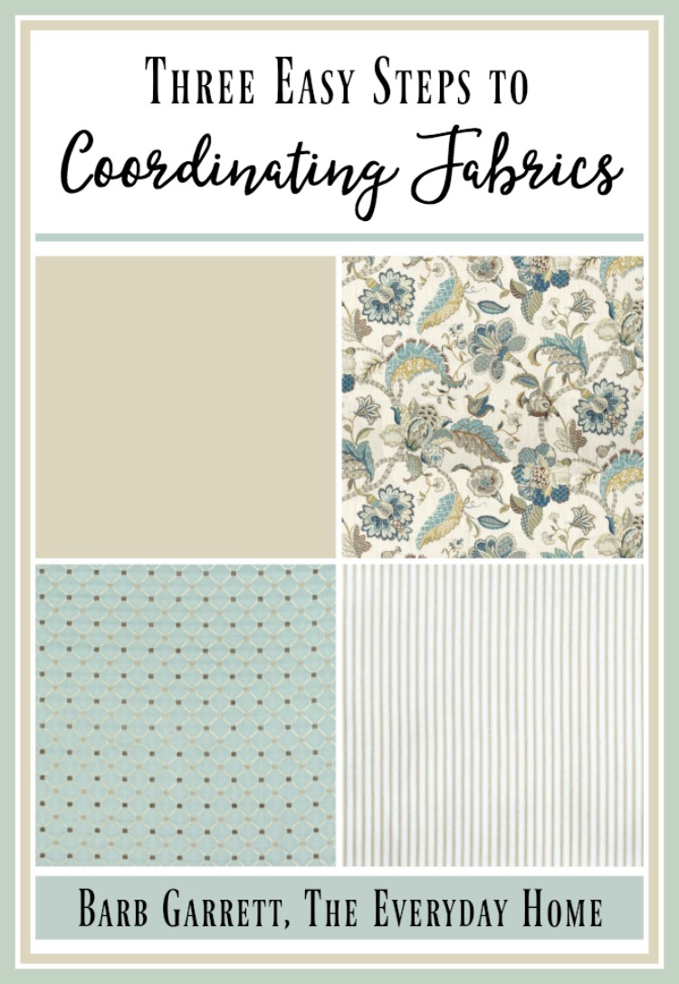 How to Coordinate Fabrics in 3 Easy Steps | The Everyday Home | www.everydayhomeblog.com