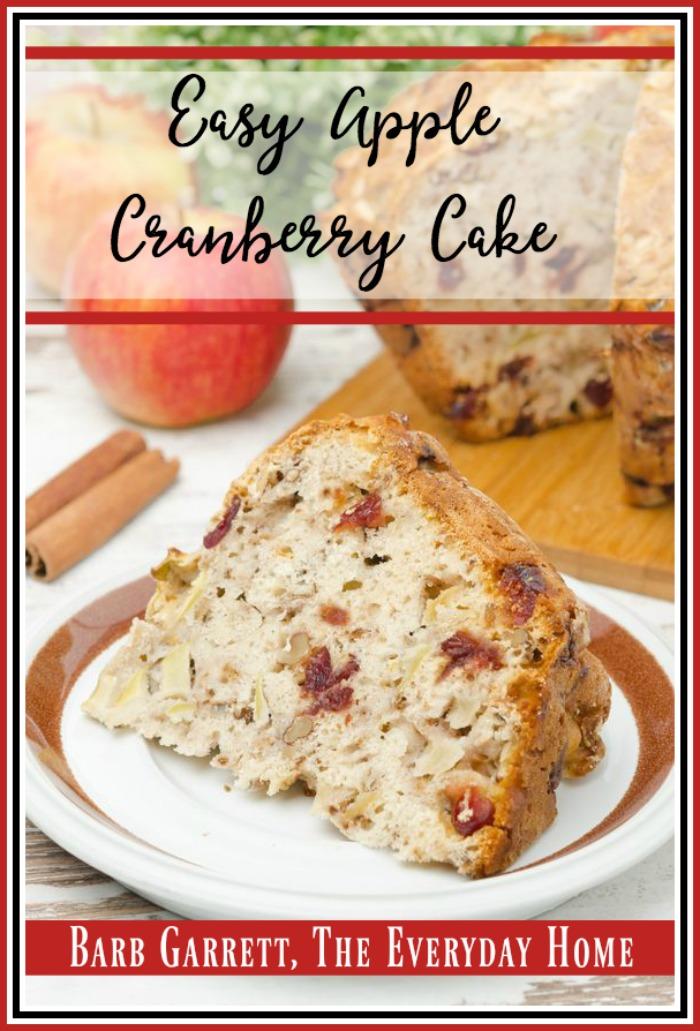 Easy Apple Cranberry Nut Cake | The Everyday Home | www.everdayhomeblog.com