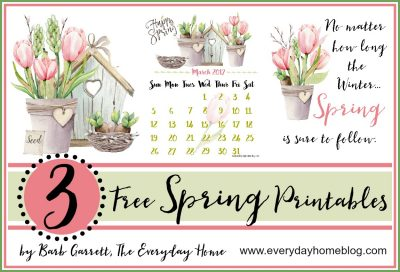 March Calendar Printable {and two Spring Printables}