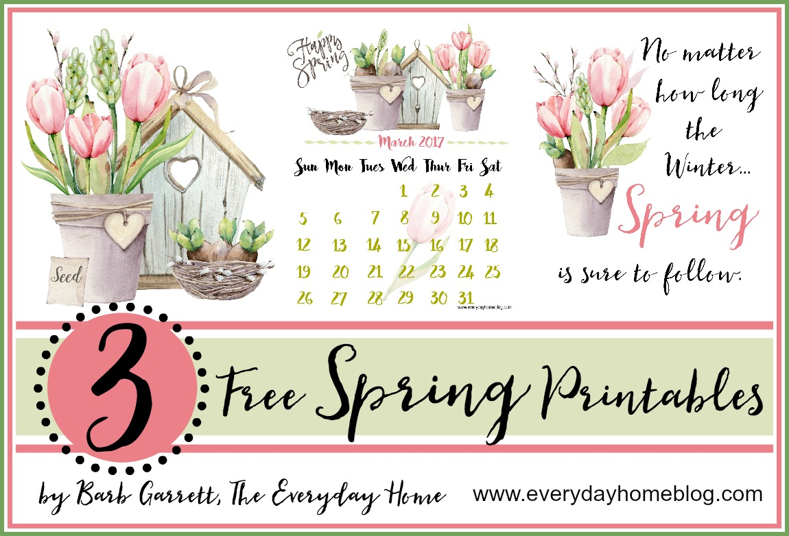3 Free Spring Printables | The Everyday Home | www.everydayhomeblog.com