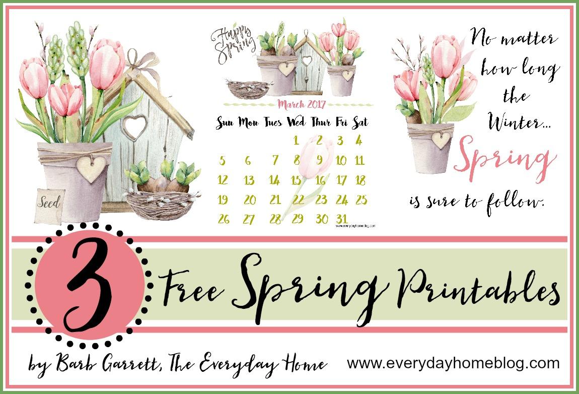 3 Free Spring Printables | The Everyday Home | www.everydayhomeblog.com