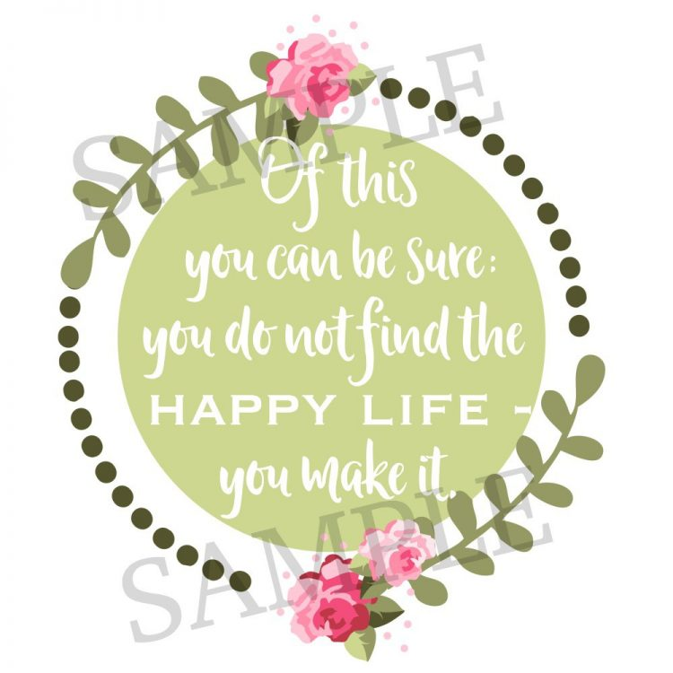 Of This You Can Be Sure Printable | The Everyday Home | www.everydayhomeblog.com