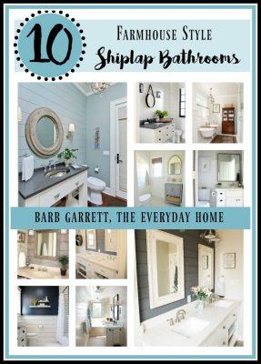 10 Ways to Add Shiplap to Your Farmhouse Bathroom
