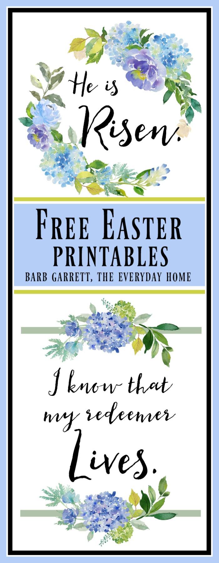 FREE Easter Printables | The Everyday Home | www.everydayhomeblog.com