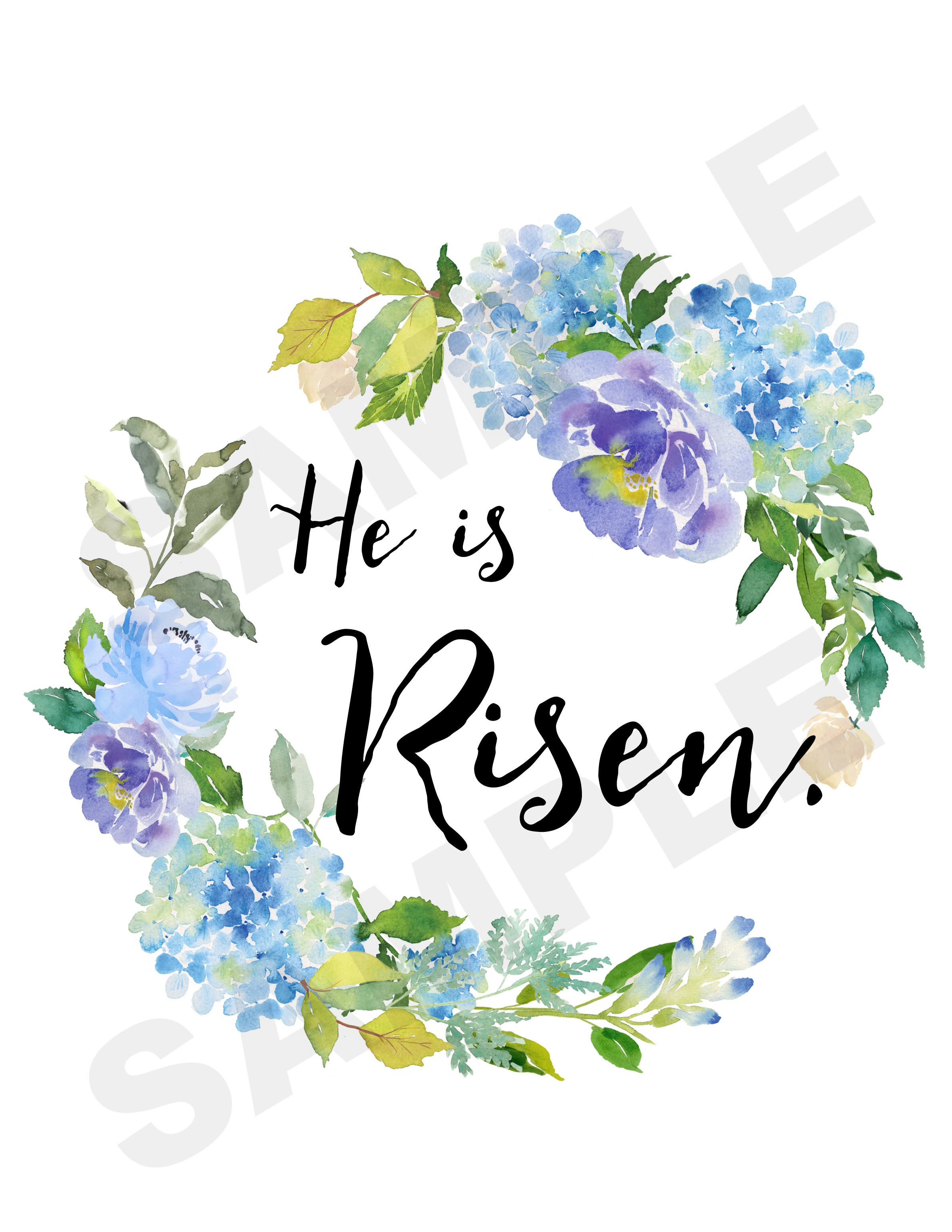 FREE He is Risen Easter Printable | The Everyday Home | www.everydayhomeblog.com