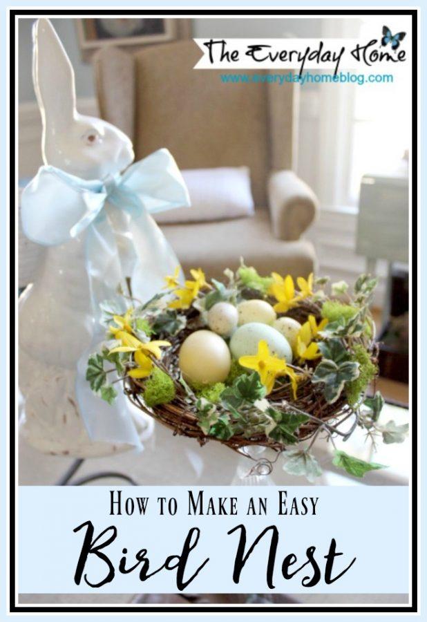 How to Make a Bird Nest | The Everyday Home | www.everydayhomeblog.com