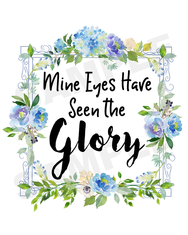Mine Eyes Have Seen the Glory Gospel Printable   The Everyday Home   www.everydayhomeblog.com