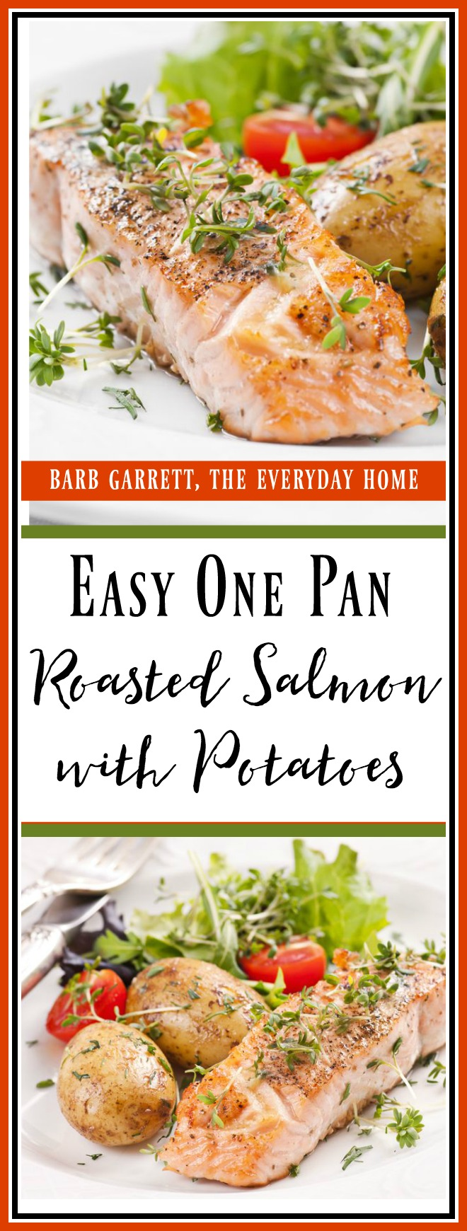 NO FAIL Easy One Pan Roasted Salmon and Potatoes | The Everyday Home | www.everydayhomeblog.com