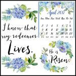 April 2017 Calendar and Easter Printables